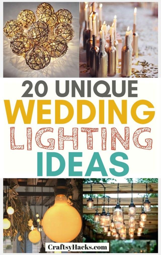 Wedding Lighting Ideas 20 Unique Wedding Lighting Ideas Craftsy Hacks