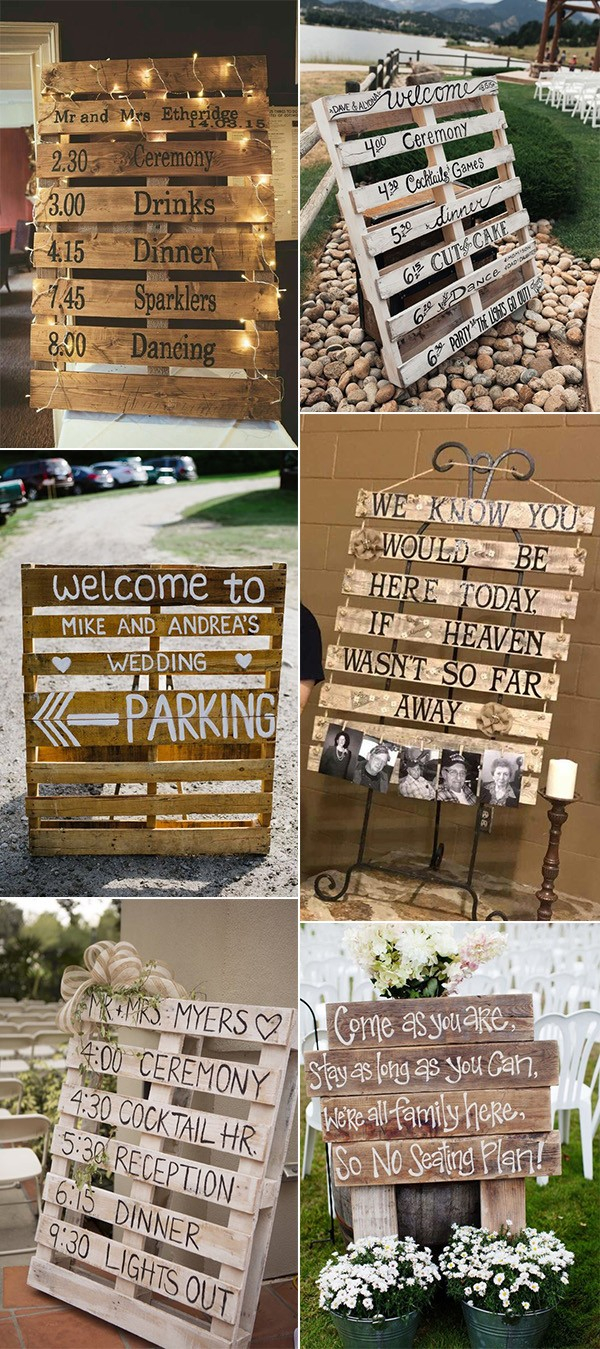 Wedding Pallet Ideas 24 Diy Country Wedding Ideas With Pallets To Save Budget