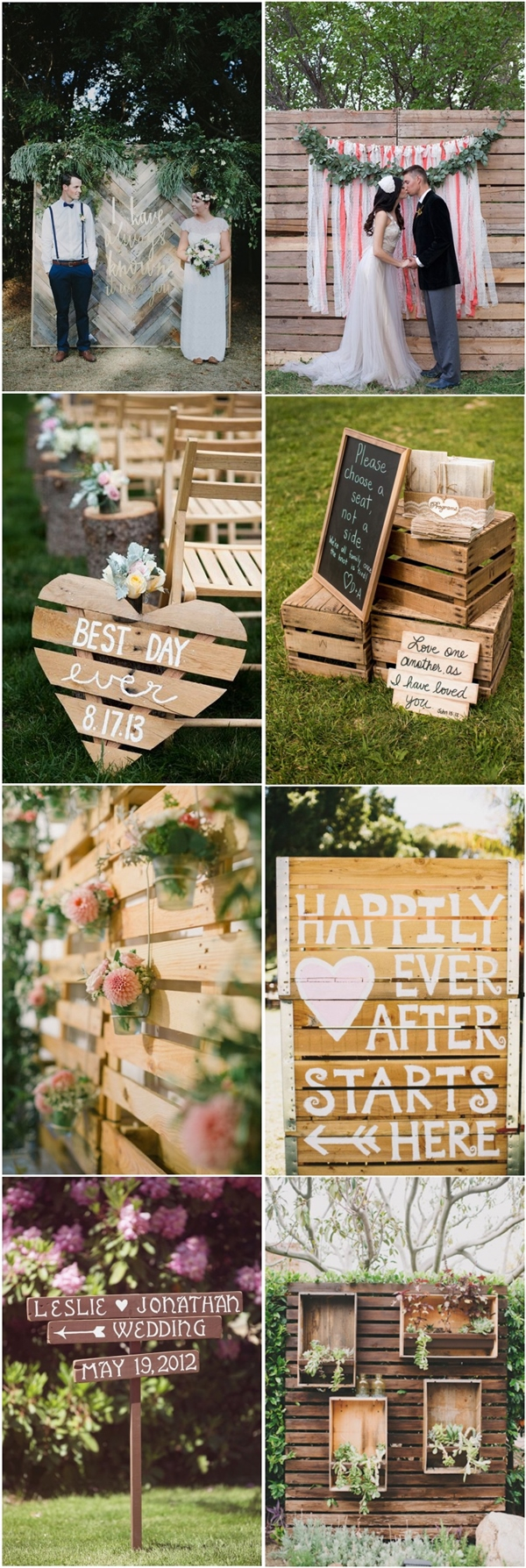 Wedding Pallet Ideas 35 Eco Chic Ways To Use Rustic Wood Pallets In Your Wedding Deer