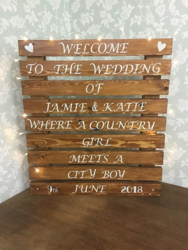 Wedding Pallet Ideas Personalised Welcome To Our Large Wedding Pallet Sign Etsy