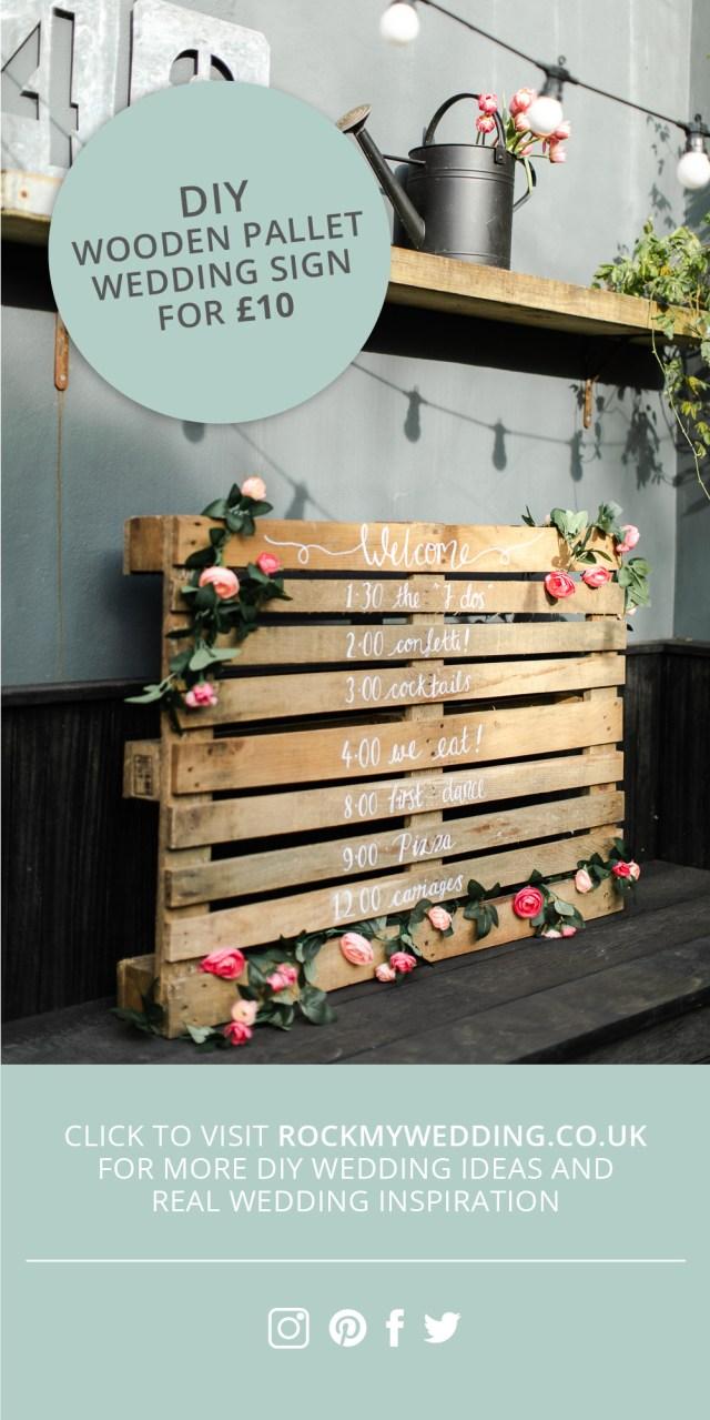 Wedding Pallet Ideas Wooden Pallet Wedding Sign Make Your Own For Under 10
