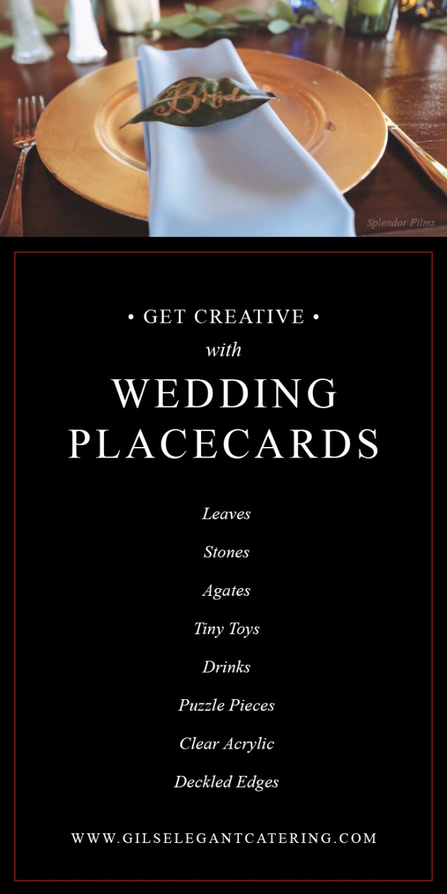 Wedding Placecards Ideas Catering Dallas Creative Place Card Ideas From Gils