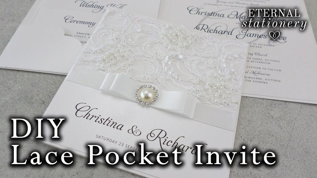 Wedding Pocket Invitations How To Make A Lace Pocket Wedding Invitation Diy Invitations Youtube