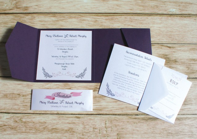 Wedding Pocket Invitations Wedding Scribblers Wedding Stationery Wedding Scribblers Cork