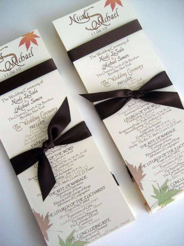 Wedding Program Ideas Cesleys Blog Creative Wedding Program Ideas