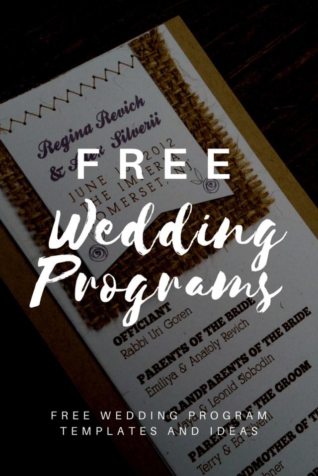 Wedding Program Ideas Free Wedding Program Templates Wedding Program Ideas