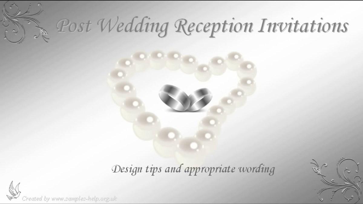 Wedding Reception Invitation Quotes Post Wedding Reception Invitation Wording Youtube