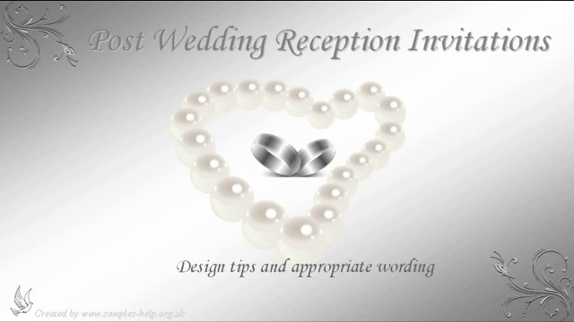 Wedding Reception Invitation Quotes Post Wedding Reception Invitation Wording Youtube