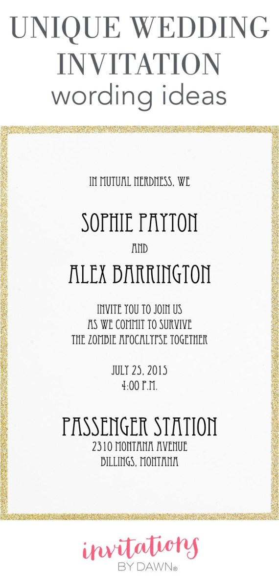 Wedding Reception Invitation Quotes Invitations