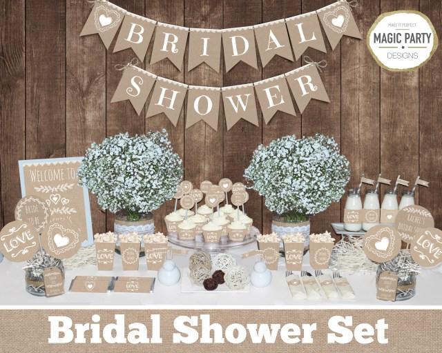 Wedding Shower Decorations Rustic Bridal Shower Decorations Bachelorette Party Etsy