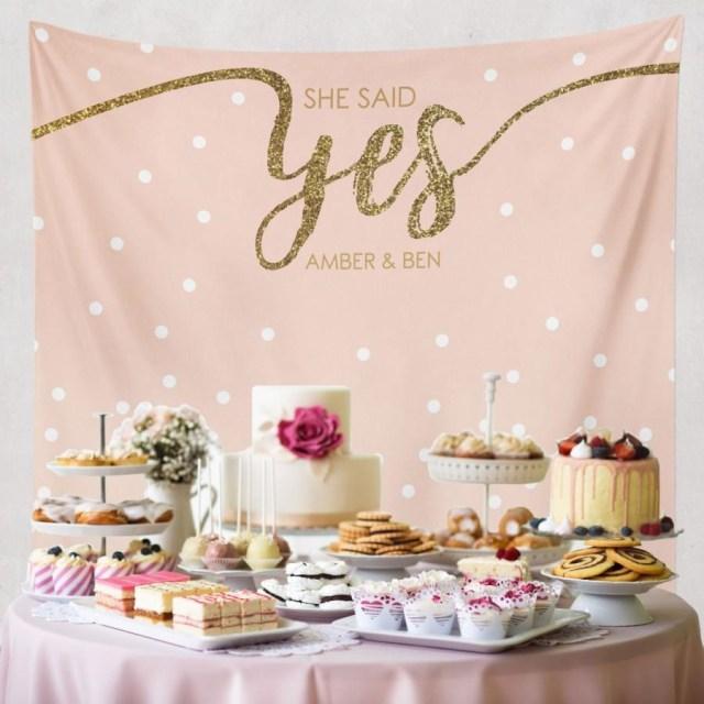 Wedding Shower Decorations She Said Yes Bridal Shower Decorations Engagement Decor