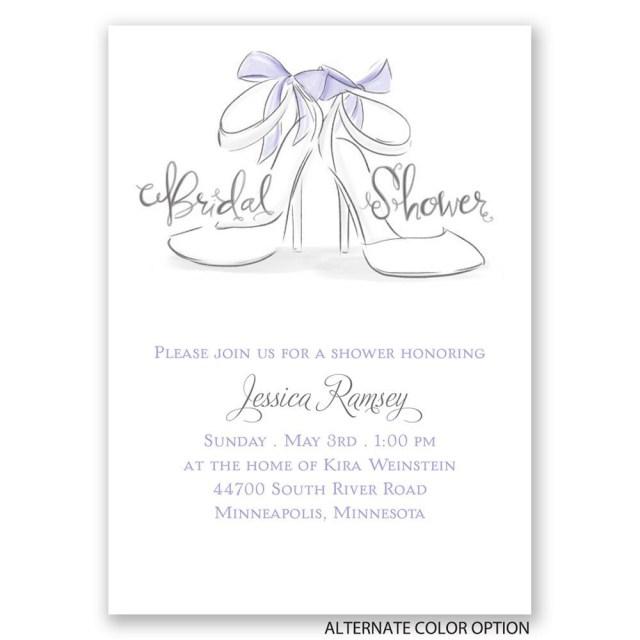 Wedding Shower Invitation Wedding Shoes Mini Bridal Shower Invitation Invitations Dawn