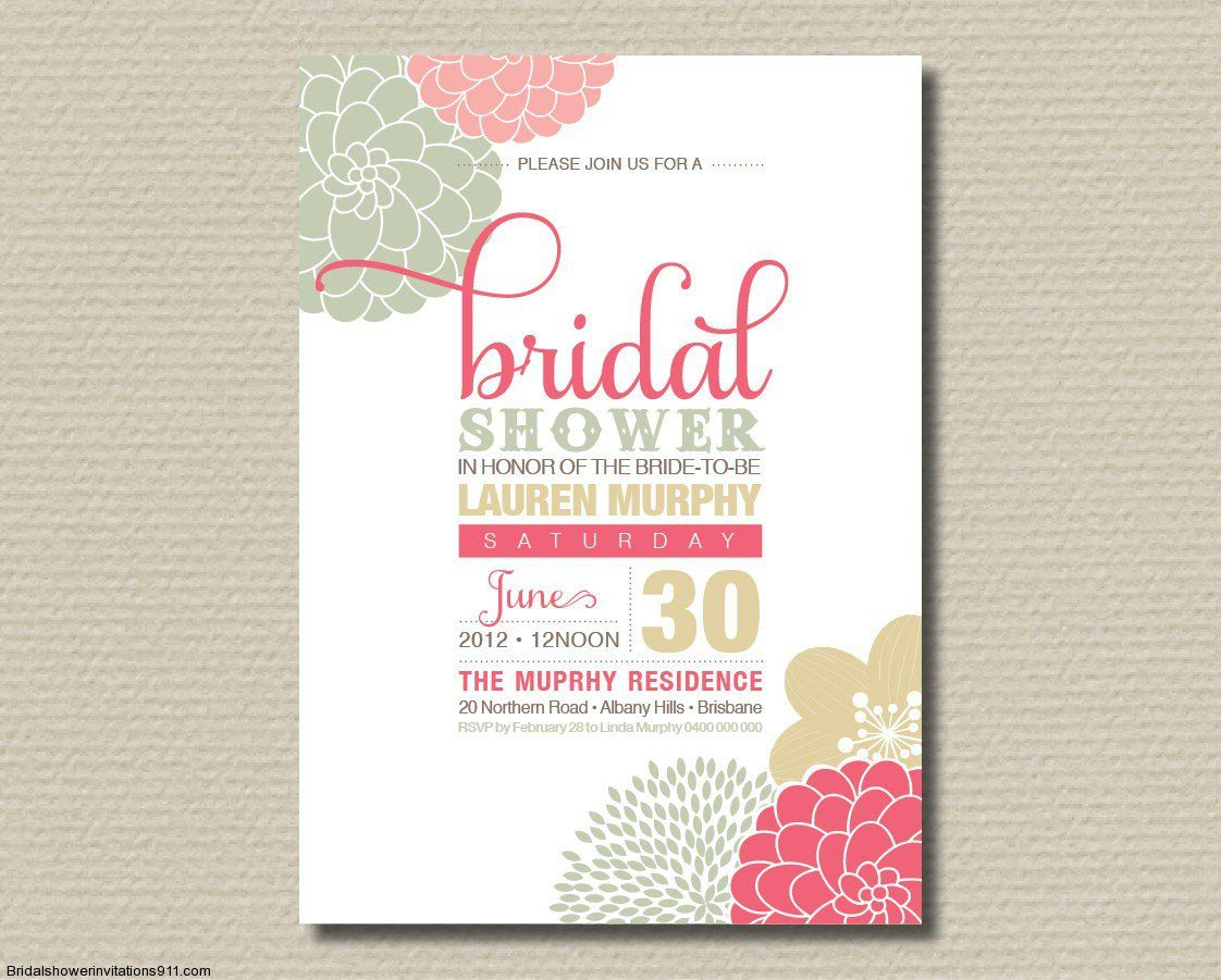 37+ Pretty Photo of Wedding Shower Invitations Wording