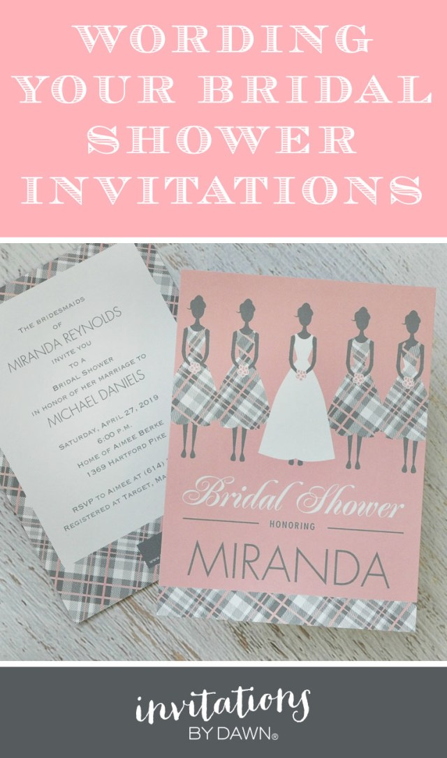 Wedding Shower Invitations Wording Wording Your Bridal Shower Invitations