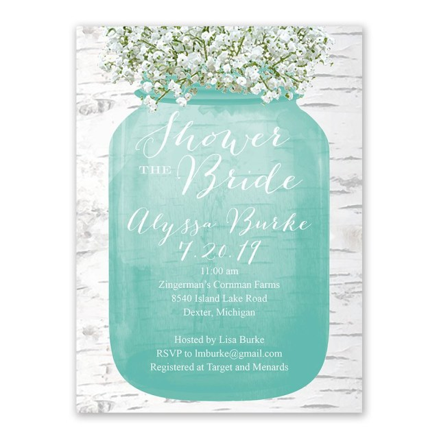 Wedding Shower Invite Bas Breath Bridal Shower Invitation Anns Bridal Bargains