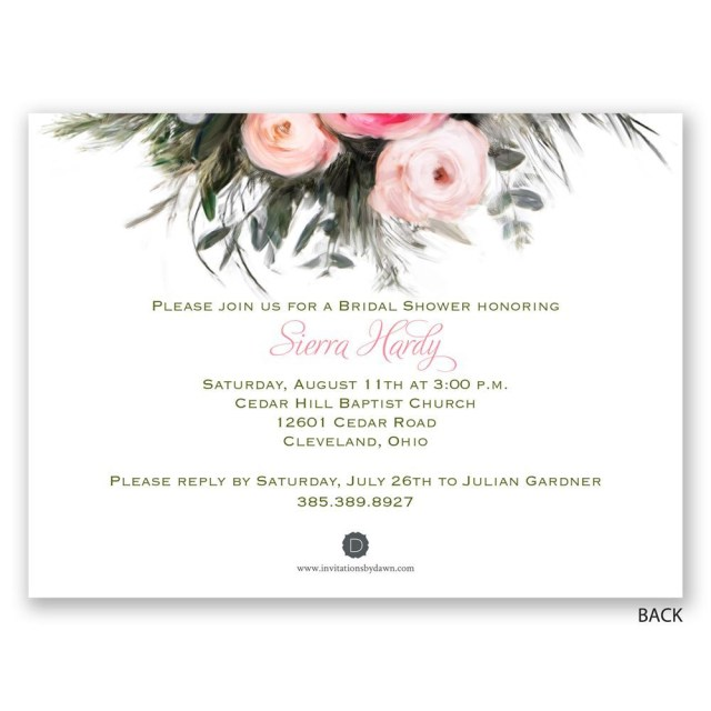 Wedding Shower Invite Dazzling Blank Bridal Shower Invitations Bridal Shower Invitation