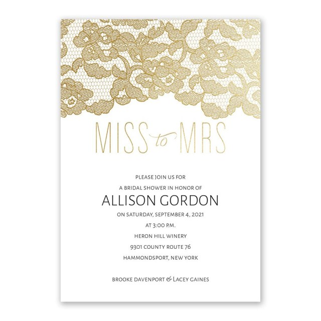 Wedding Shower Invite Miss To Mrs Foil Bridal Shower Invitation Invitations Dawn