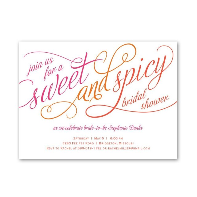Wedding Shower Invite Sweet And Spicy Petite Bridal Shower Invitation Invitations Dawn