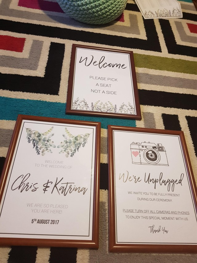 Wedding Signs Diy So Happy With My Diy Wedding Signs 6 Each Weddingplanning