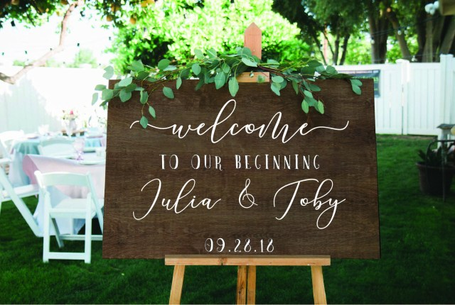 Wedding Signs Diy Wedding Welcome Decal Or Stencil For Diy Wedding Signs For Etsy