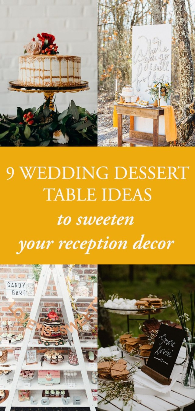 Wedding Table Ideas 9 Wedding Dessert Table Ideas To Sweeten Your Reception Decor