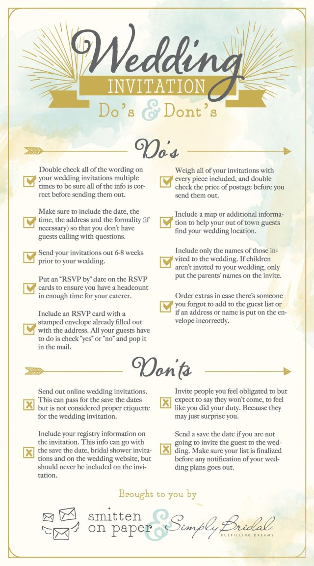 What To Say On A Wedding Invitation 6 Super Helpful Wedding Invitation Checklists Wedding Invitation