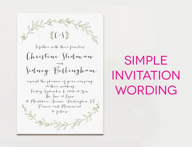 What To Say On A Wedding Invitation Wedding Ideas Wedding Invitation Text Grandioseparlor
