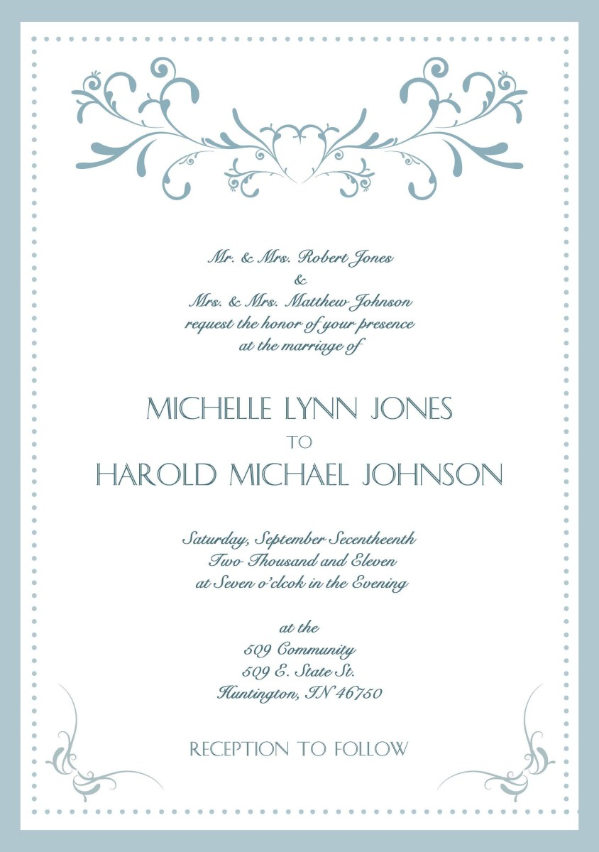 What To Write On A Wedding Invitation Sample Wedding Invitation Cards In English Wedding Invitations In