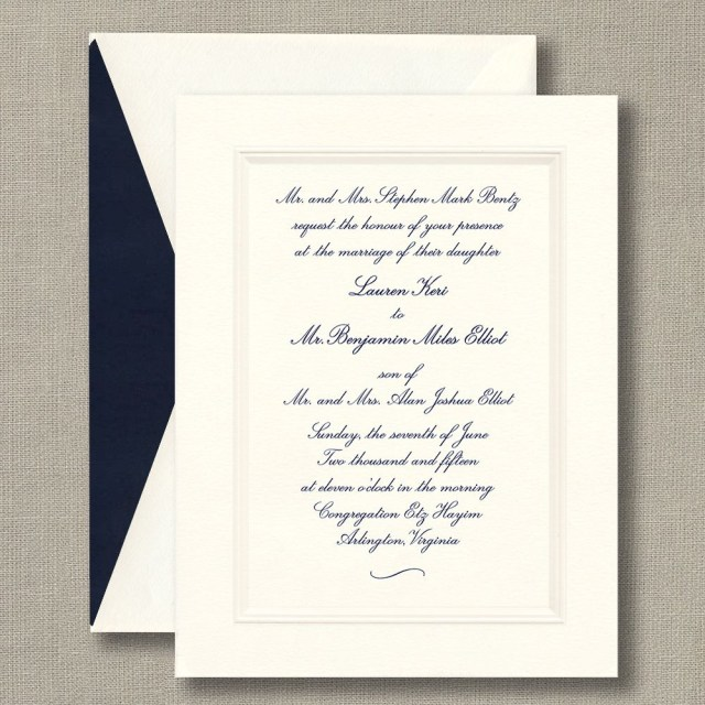 White Wedding Invitations Embossed Double Bordered Warm White Wedding Invitations Timeless