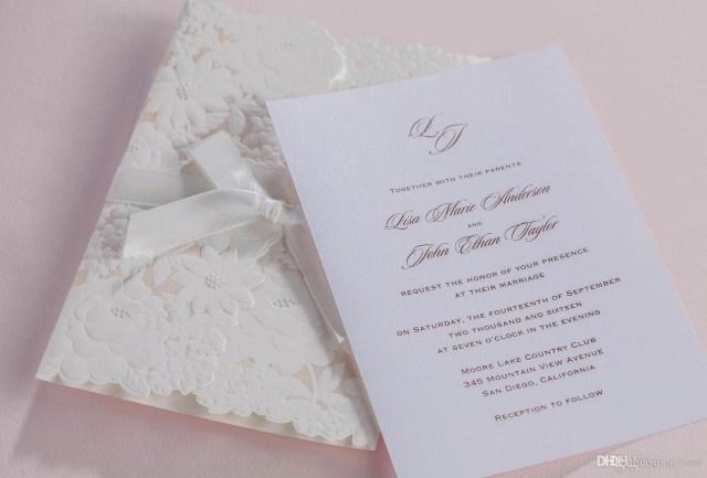 White Wedding Invitations Flower Wedding Invitations Cards White Wedding Invitaitons High