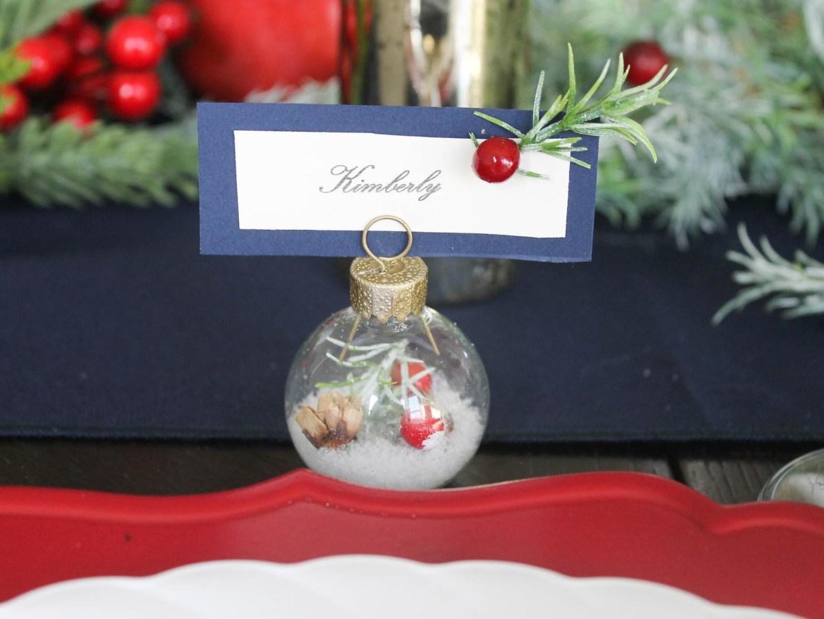 Winter Wedding Diy Diy Winter Wedding Place Card Holder Fun365