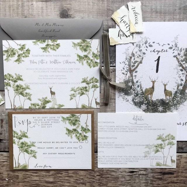 Woodland Wedding Invitations Woodland Wedding Invitations Clarendon Design