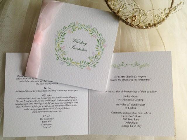 Woodland Wedding Invitations Woodland Wedding Invitations From 125
