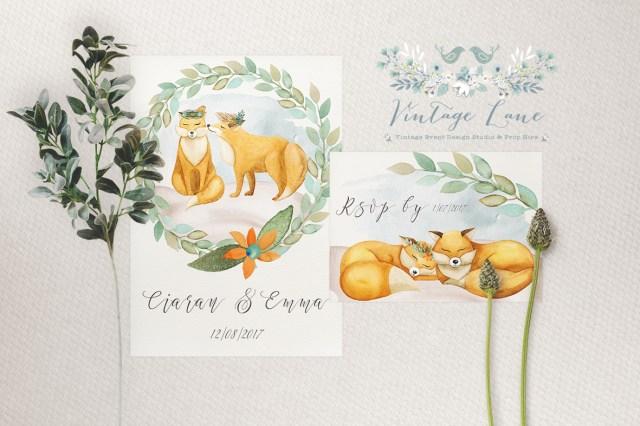 Woodland Wedding Invitations Woodland Wedding Rustic Wedding Invitations Animal Boho Wedding