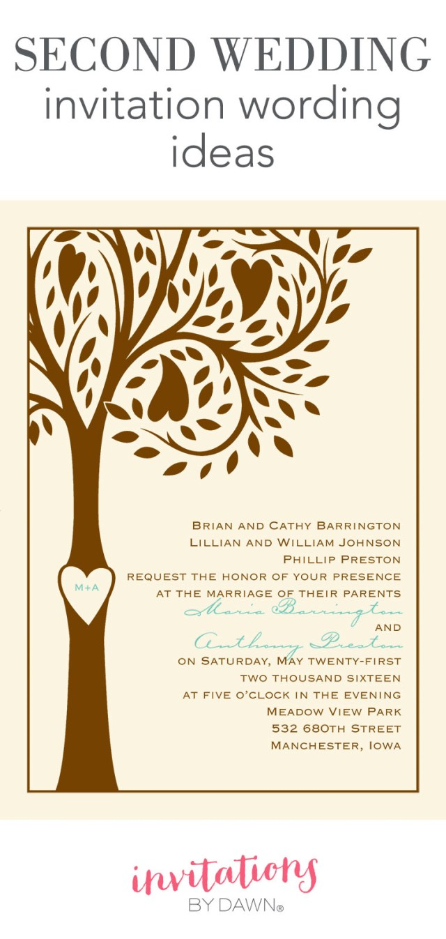 Wording Wedding Invitations Second Wedding Invitation Wording Invitations Dawn