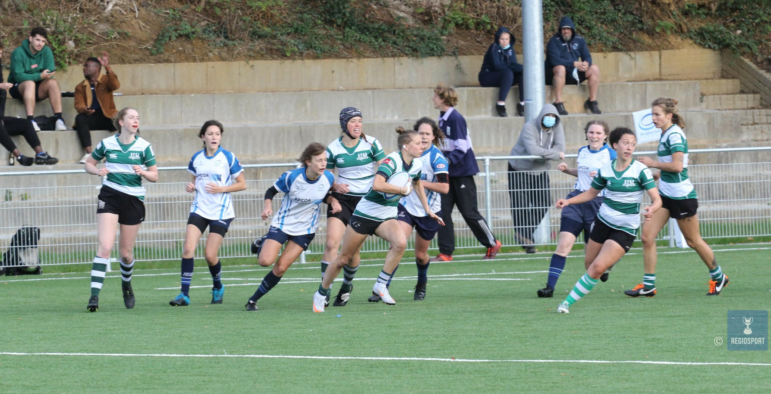 Gentse rugbyladies winnen voor het eerst en het laatst voor de coronabreak