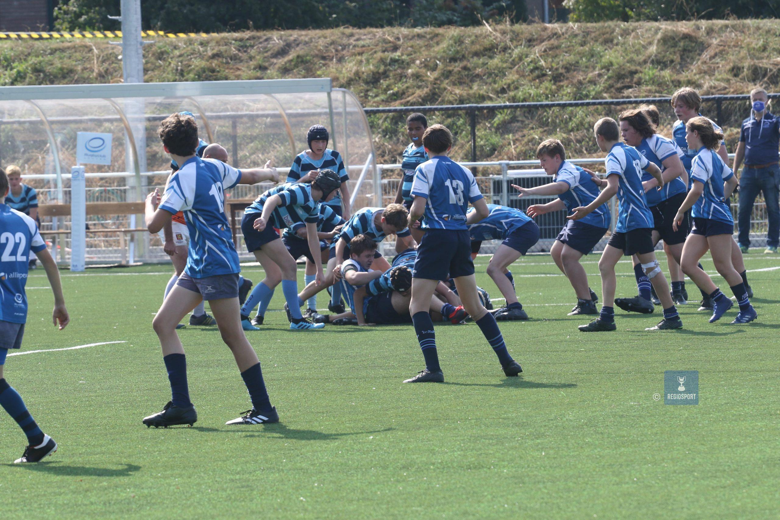 Bij de U16 van Rugby Club Leuven gebeuren de work-outs online