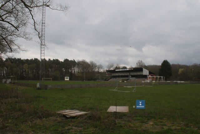 Een indruk van het stadion van KV Tremelo en omliggende percelen