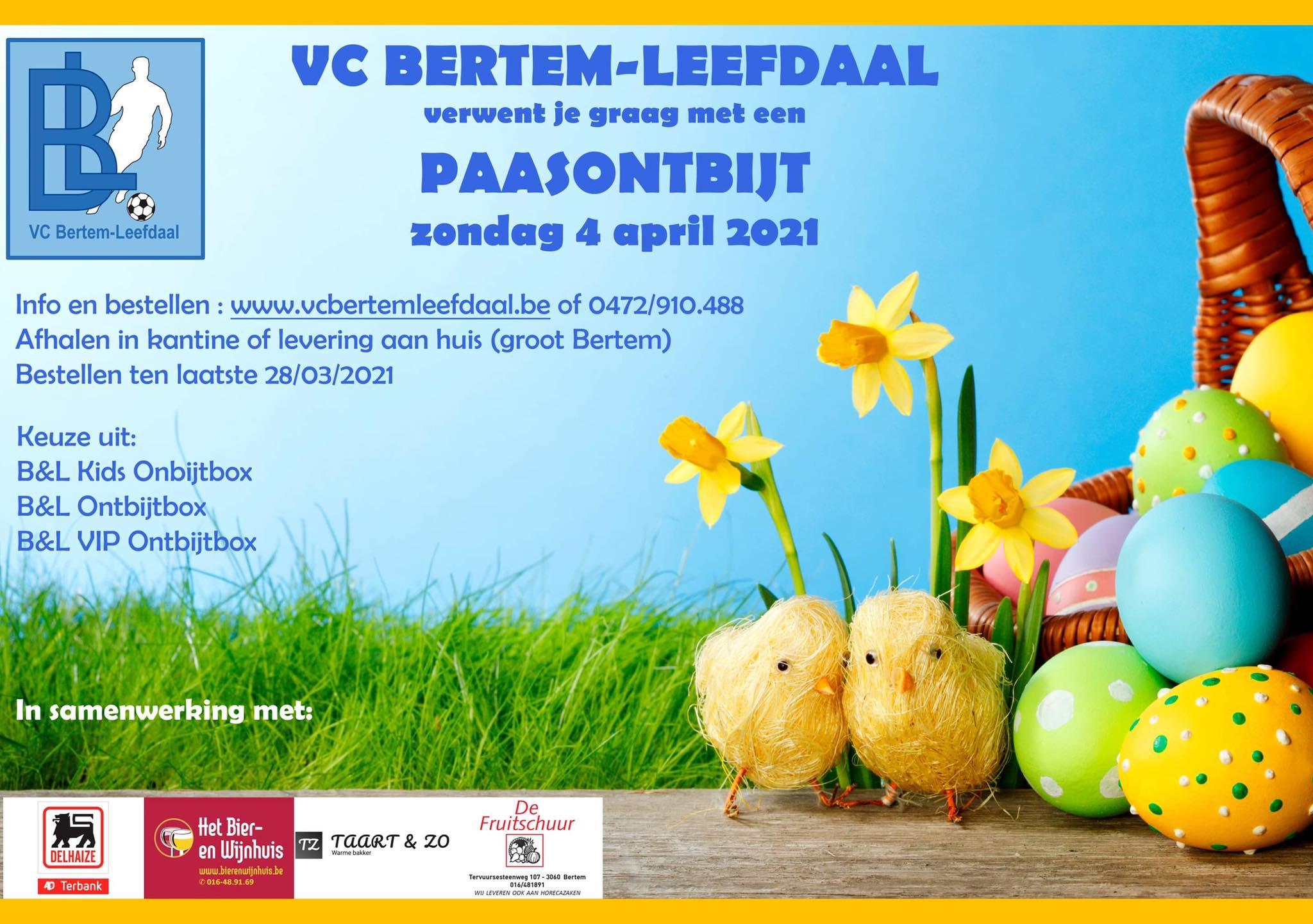 Maak van Paaszondag een voltreffer met een VC Bertem-Leefdaal Ontbijtbox!