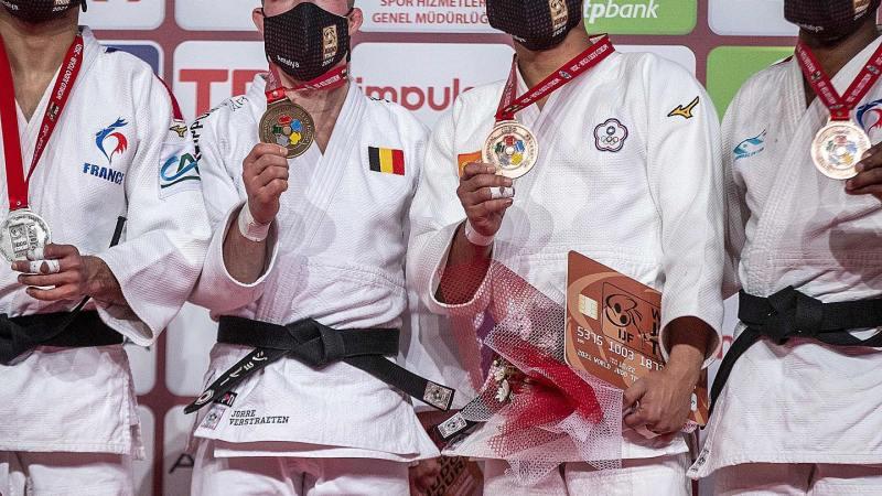 Jorre Verstraeten pakt goud op Grand Slam in Turkije