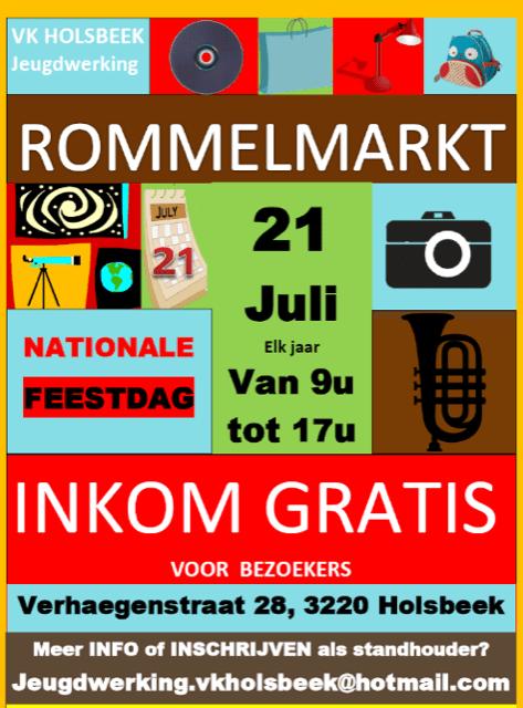 VK Holsbeek organiseert zijn negende Grote Rommelmarkt