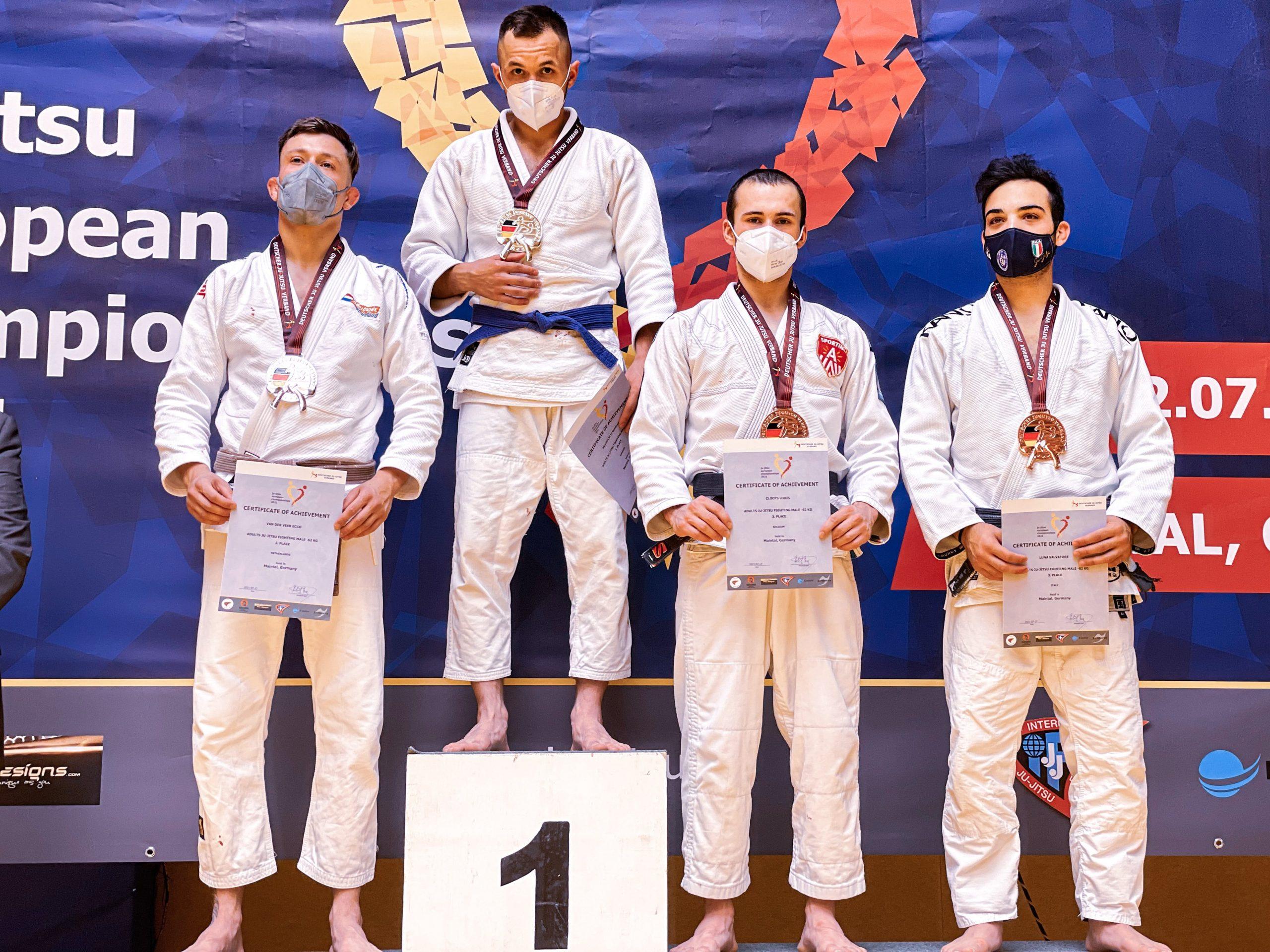 Antwerpenaar Louis Cloots pakt brons op Europees kampioenschap Ju-Jitsu