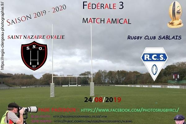 24-08-19 F3 Amical RC Sablais – St Nazaire Ovalie N° 20 Pica