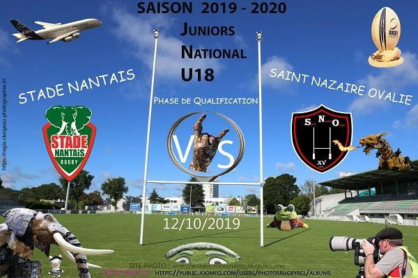 12-10-18 U18 Stade Nantais – Saint Nazaire Ovalie N°2 Pica