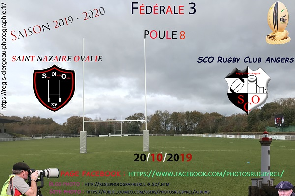 20-10-19 F3 SCO Rugby Club Angers contre Saint Nazaire Ovalie N°13 Pica