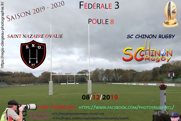 08-12-19 Saint Nazaire – SC Chinon Rugby N°8 Pica