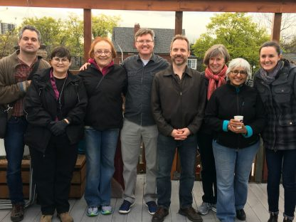 Kevin Kelly (fourth from the left) poses for a photo with other ISP - Toronto team leaders
