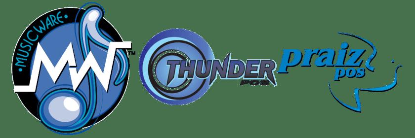 ThunderPOS, Musicware, and Praiz Logos