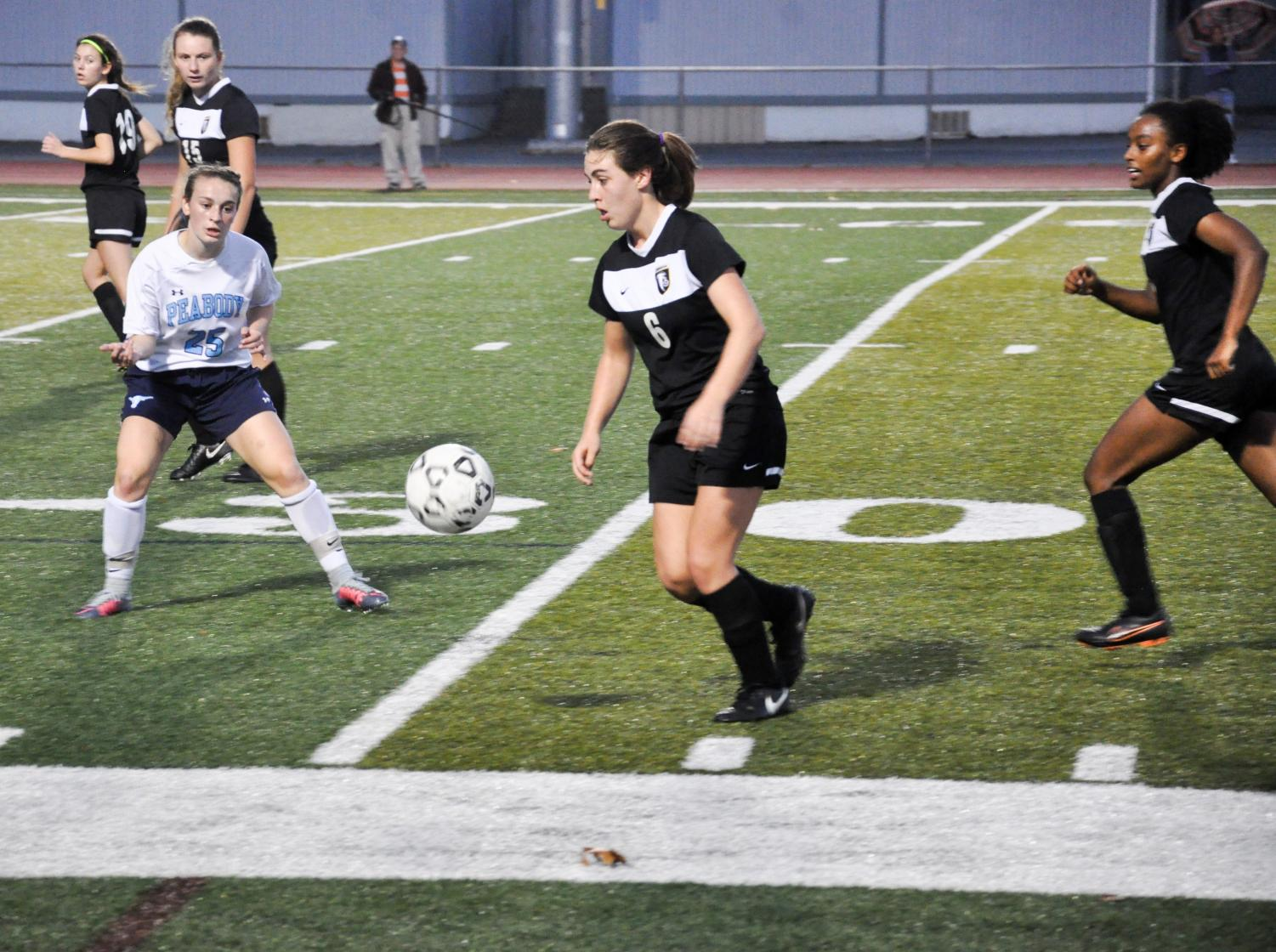 Pictured: The girls soccer state tournament game against Peabody on November 3rd. Peabody won 2-1.