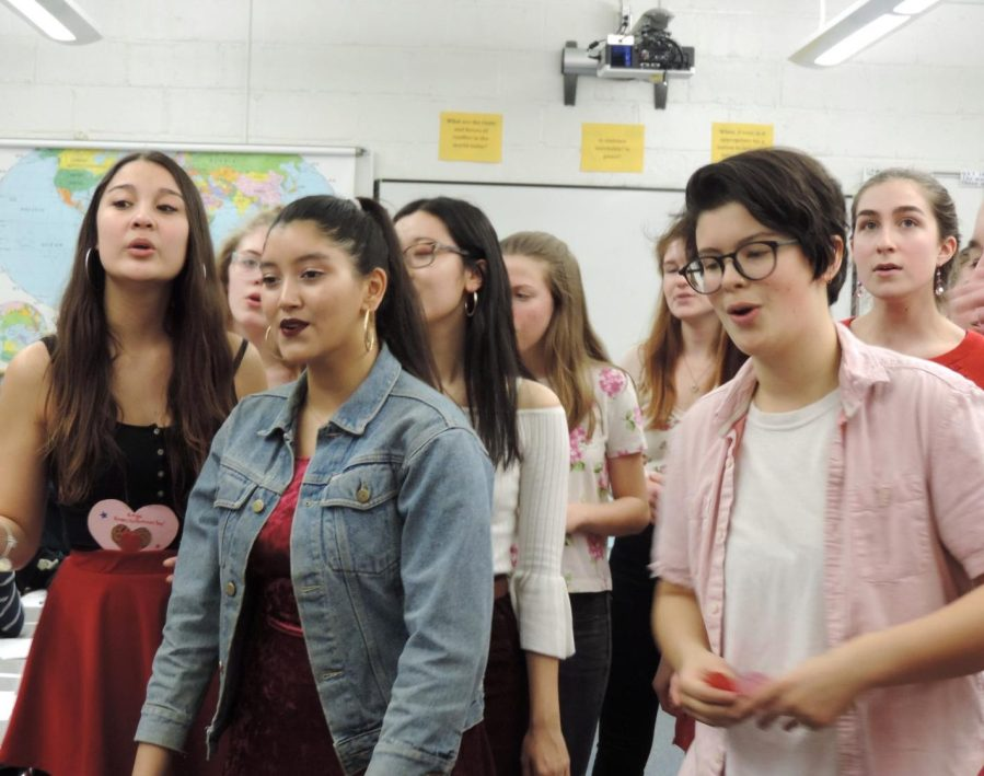 CRLS Tradition of Singing Valentines Continues